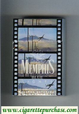 Memphis Lights Blue cigarettes hard box