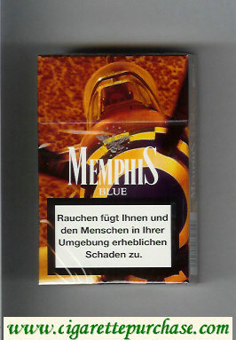 Memphis Blue cigarettes hard box