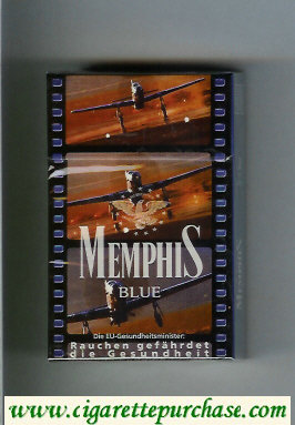 Memphis Blue hard box cigarettes