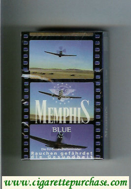 Memphis cigarettes Blue hard box