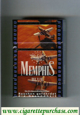 Memphis cigarettes hard box Blue