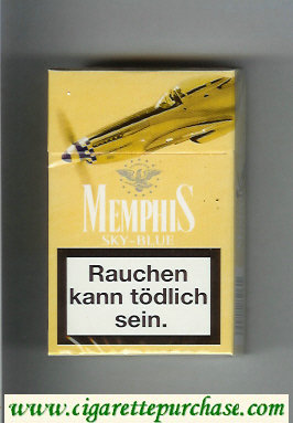 Memphis Sky-Blue hard box cigarettes
