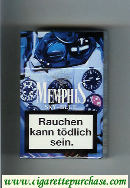 Memphis cigarettes Sky-Blue hard box