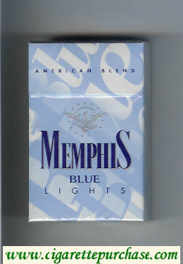 Memphis Blue American Blend Lights cigarettes hard box