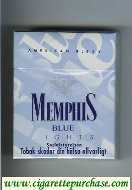 Memphis Blue American Blend Lights 25 cigarettes hard box