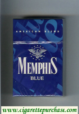 Memphis Blue American Blend cigarettes hard box