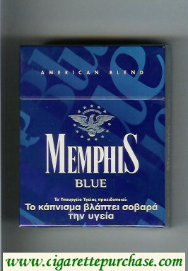 Memphis Blue American Blend 25 cigarettes hard box