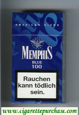 Memphis Blue American Blend 100 cigarettes hard box