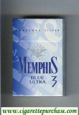 Memphis Blue Ultra 3 Charcoal Filter cigarettes hard box