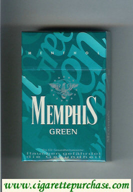 Memphis Green Menthol cigarettes hard box