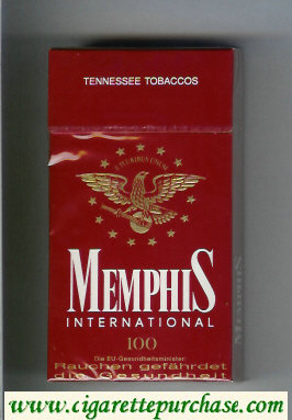 Memphis International 100s Tennessee Tobaccos cigarettes hard box
