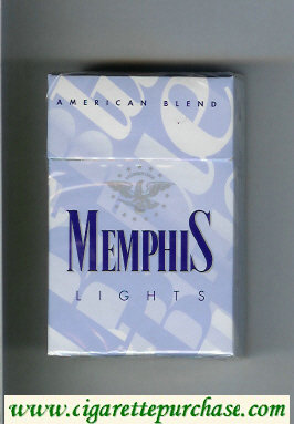 Memphis Lights American Blend cigarettes hard box