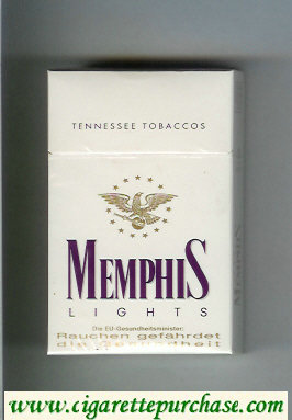 Memphis Lights Tennessee Tobaccos cigarettes hard box