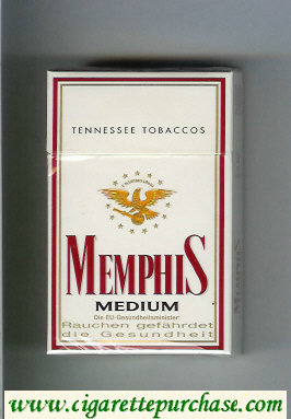 Memphis Medium Tennessee Tobaccos cigarettes hard box