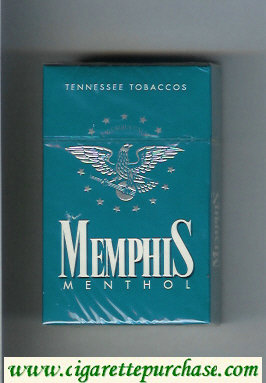 Memphis Menthol Tennessee Tobaccos cigarettes hard box