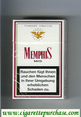 Memphis Mid Tennessee Tobaccos cigarettes hard box