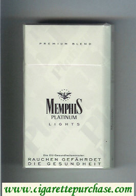 Memphis Platinum Lights 90s Premium Blend cigarettes hard box