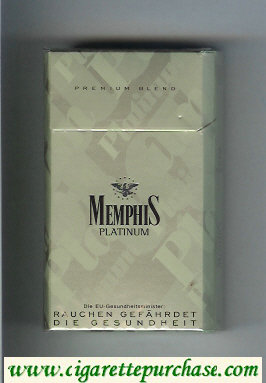 Memphis Platinum 90s Premium Blend cigarettes hard box