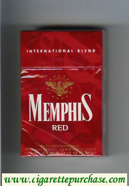 Memphis Red International Blend cigarettes hard box
