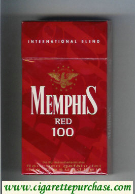 Memphis Red 100s International Blend cigarettes hard box