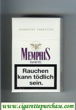 Memphis White Tennessee Tobaccos cigarettes hard box