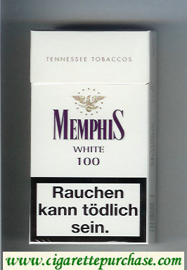 Memphis White 100 Tennessee Tobaccos cigarettes hard box