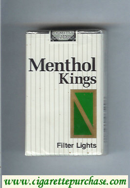 Menthol Kings Filter Lights cigarettes soft box