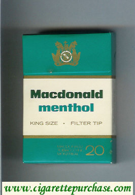 Menthol Macdonald cigarettes hard box