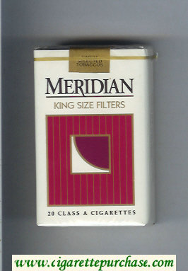 Meridian King Size Filters cigarettes soft box