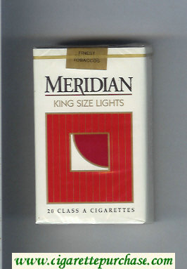 Meridian King Size Lights cigarettes soft box