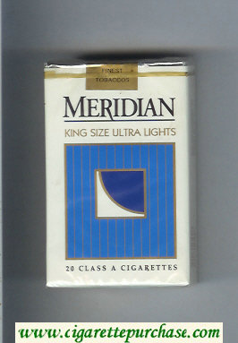 Meridian Ultra Lights cigarettes soft box