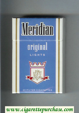 Meridian Original Lights cigarettes hard box