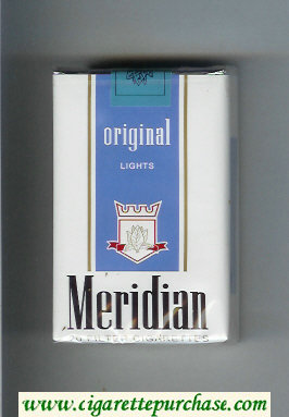 Meridian Original Lights cigarettes soft box