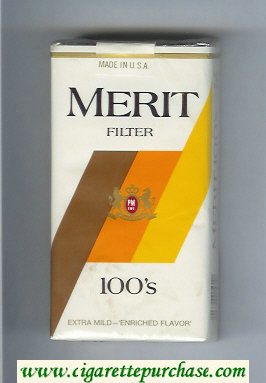 Discount Merit Filter 100s cigarettes soft box