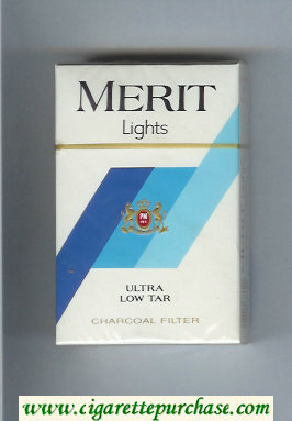 Discount Merit Lights cigarettes hard box