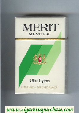 Discount Merit Menthol Ultra Lights cigarettes hard box