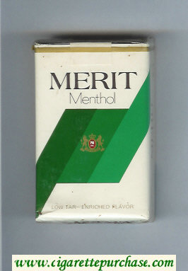 Discount Merit Menthol cigarettes soft box