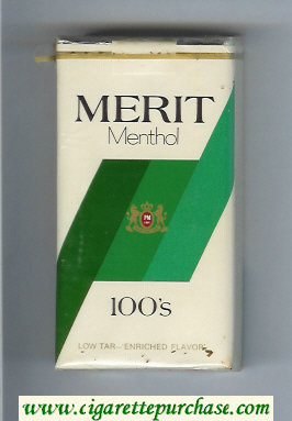 Discount Merit Menthol 100s cigarettes soft box