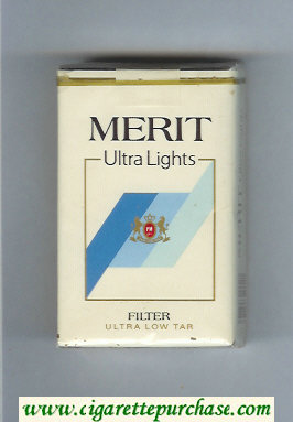 Merit Ultra Lights Filter cigarettes soft box