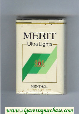 Merit Ultra Lights Menthol cigarettes soft box