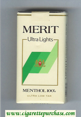 Merit Ultra Lights Menthol 100s cigarettes soft box