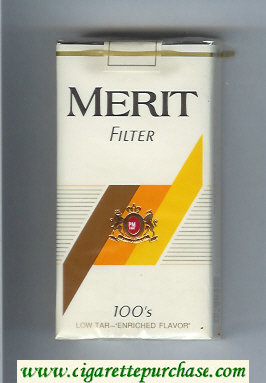 Merit Filter 100s cigarettes soft box
