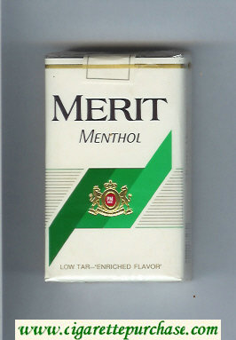 Merit Menthol cigarettes soft box