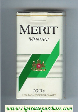 Merit Menthol 100s cigarettes soft box