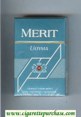 Discount Merit Ultima blue cigarettes hard box