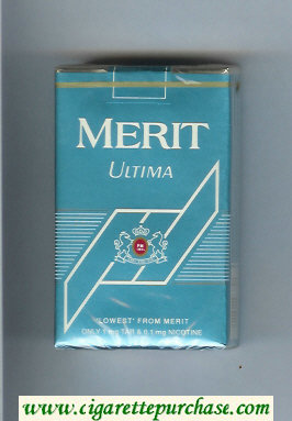 Discount Merit Ultima blue cigarettes soft box
