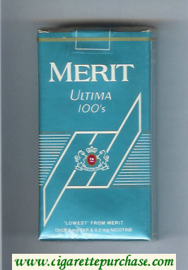 Discount Merit Ultima blue 100s cigarettes soft box