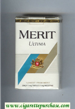 Discount Merit Ultima white cigarettes soft box