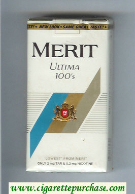 Discount Merit Ultima 100s white cigarettes soft box