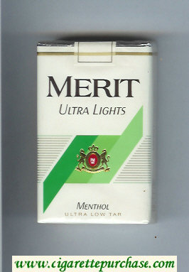 Discount Merit Ultra Lights Menthol cigarettes soft box